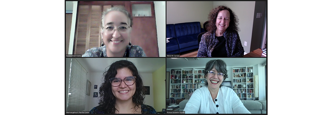 From left to right, Agnes M. Bosch Irizarry, Ph. D., María M. Carrión Baralt, Ph. D., Marinangélica Parrilla Carbia, and thesis advisor Aurora Lauzardo Ugarte, Ph. D..