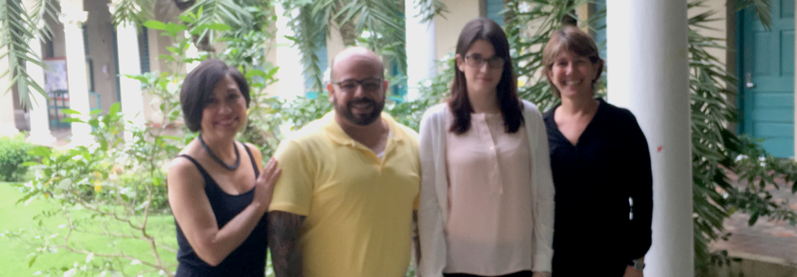 Left to right: Yvette Torres, M.A., thesis advisor Alejandro Álvarez Nieves, Ph.D., student Rocío Fernández Jiménez, and Aurora Lauzardo, Ph.D.